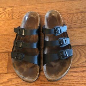 Birkenstock Black Leather 42 EUC Shoes Florida
